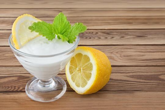 Творожная масса лимонная